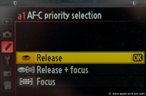 "Custom Setting a1 - set to ""Release Priority""."