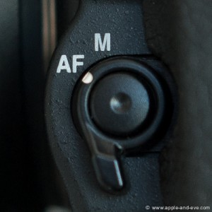 Set this button to AF - Autofocus.