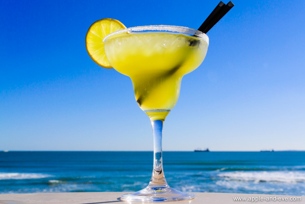 Enjoy a cocktail in the sun.
