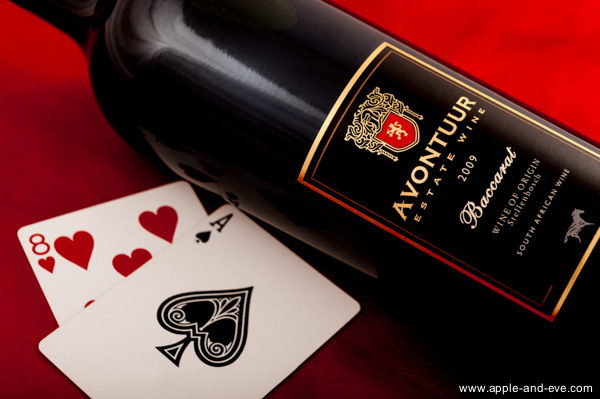 The wine took it's name from the well-known Baccarat game.