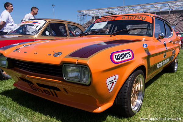 Ford Capri Perana - a very popular car in South Africa during the early seventies - here in he well-known Gunston racing livery.
