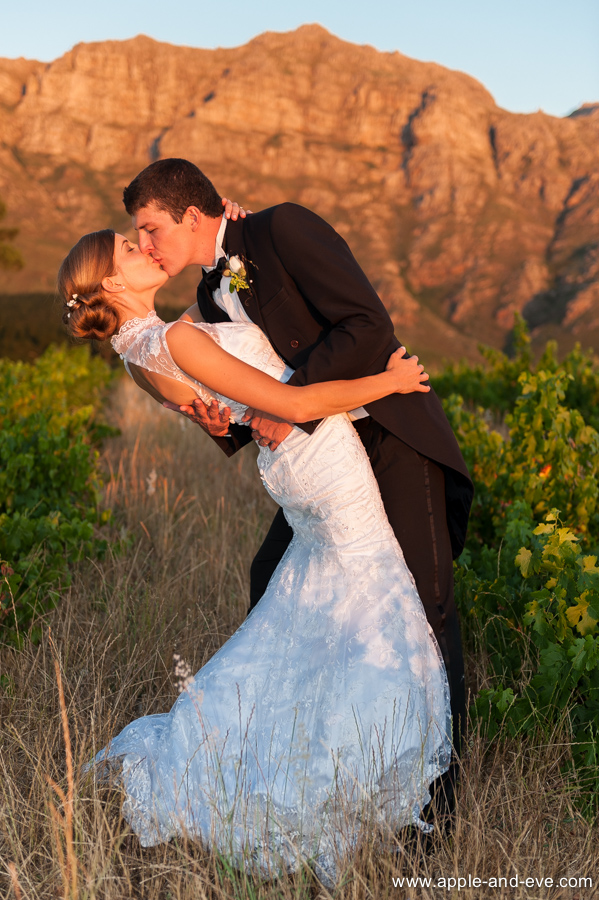 Kissing in the vineyard.