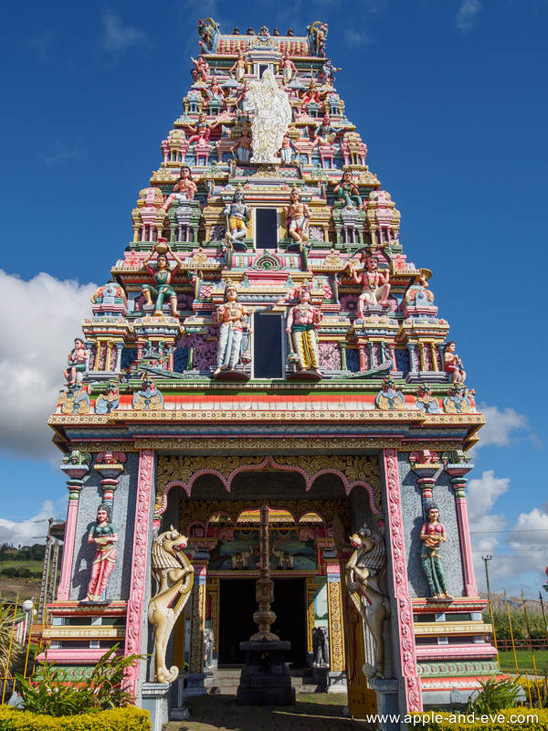 A very colourful Hindu temple - one of many on the island.