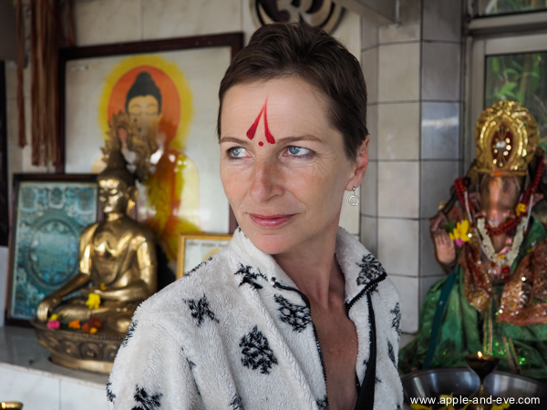 While looking around at Grand Bassin we even managed to get our faces painted by a Hindu priest.