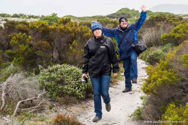 Geraldine and husband Pascal. It was Pascal's idea to walk the trail and here he looks quite happy about it :-)