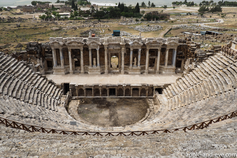 The impressive open-air theatre at Hieropolis.