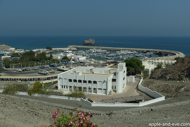 View over the Muscat marina.