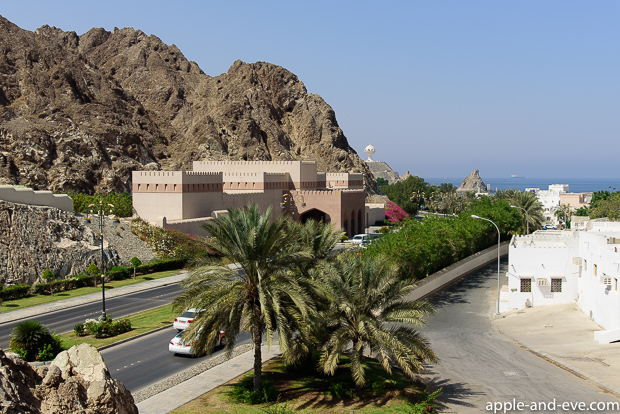 View towards the sea of Oman from the top of the Muscat gate.